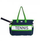 Ame & Lulu Navy/Green Varsity Tennis Court Bag - Tennis Tote Bags
