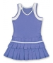 Little Miss Tennis Double Pleats Sleeveless Dress (Purple/ White) - Gifts for Kids