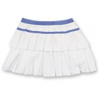 Little Miss Tennis Double-Pleated Skort (White/ Purple) - Girls's Tennis Apparel