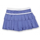 Little Miss Tennis Double-Pleated Skort (Purple/ White) - Girls's Tennis Apparel