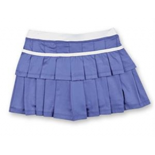 Little Miss Tennis Double-Pleated Skort (Purple/ White)