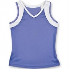 Little Miss Tennis V-Neck Tank (Purple/ White) - Girls's Tennis Apparel
