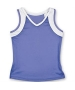 Little Miss Tennis V-Neck Tank (Purple/ White) - Little Miss Tennis Girl's Tops Tennis Apparel