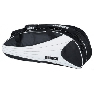 Prince Victory 6 Pack Tennis Bag (Black/ White)