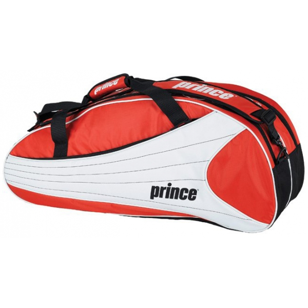 Prince Victory 6 Pack Tennis Bag (Red/ White)