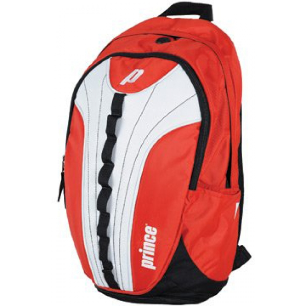 Prince Victory Backpack Tennis Bag (Red/ White)