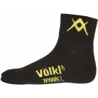 Volkl Men's Quarter Court Crew Socks (Blk/ Ylw) - Men's Socks Tennis Apparel