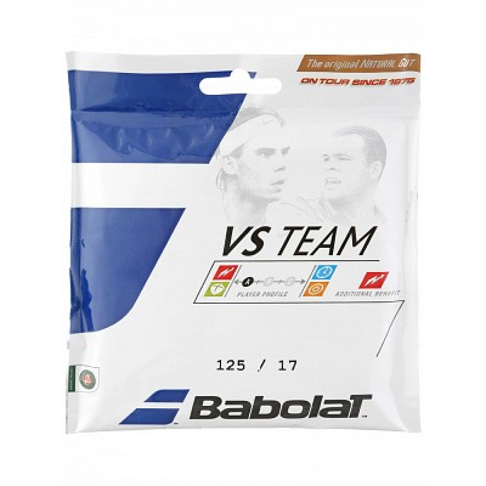 Babolat VS Team 17g Natural Gut Tennis String (Set)