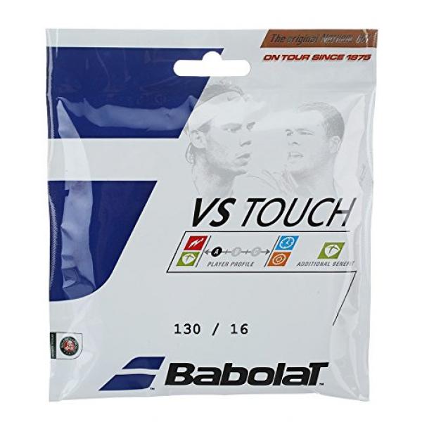 Babolat VS Touch Black 16g Natural Gut Tennis String (Set)