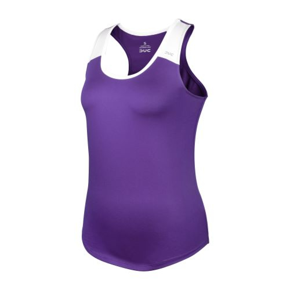 DUC Christie Women's Tennis Tank (Purple/White)