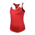 DUC Christie Women's Tennis Tank (Red/White) - Women's Tank Tops