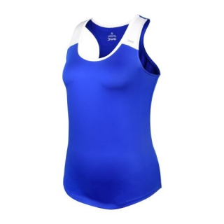 DUC Christie Women's Tennis Tank (Royal/White)