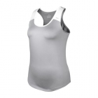 DUC Christie Women's Tennis Tank (Silver/White) - Women's Tank Tops