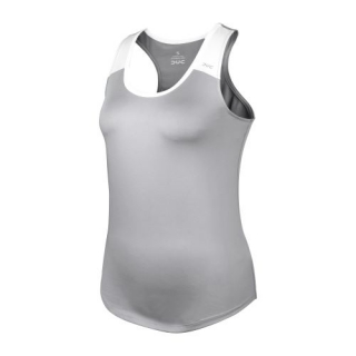 DUC Christie Women's Tennis Tank (Silver/White)