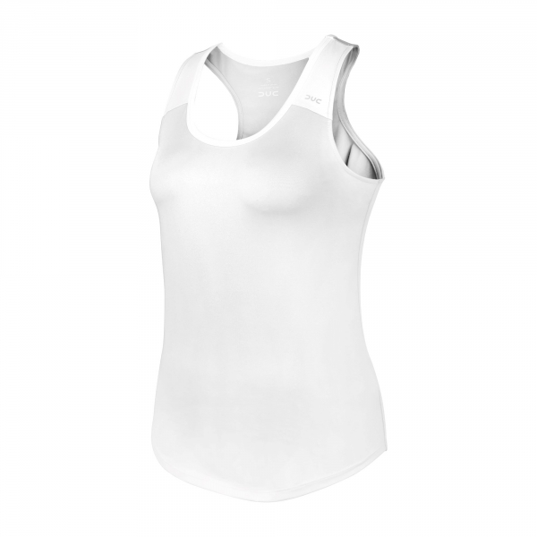 DUC Christie Women's Tennis Tank (White/White)