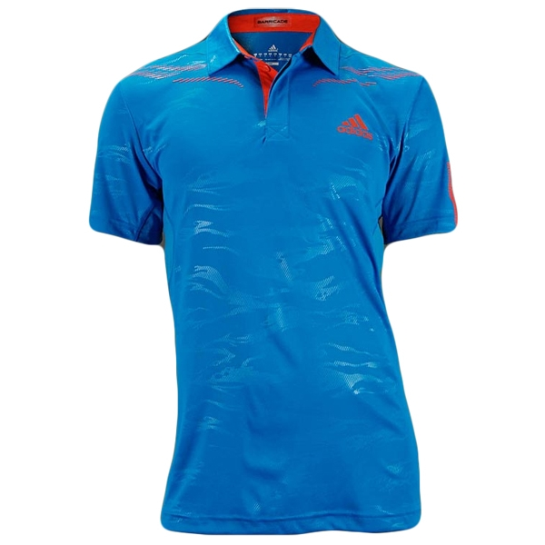 Adidas Men's Barricade Polo (Blue/ Red)