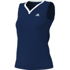 Adidas Women's Sequentials Galaxy Tank (Navy/ White) - Women's Tops Tennis Apparel