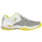 Prince Women's Warrior Tennis Shoes (White/ Grey/ Citron) - Prince Tennis Shoes