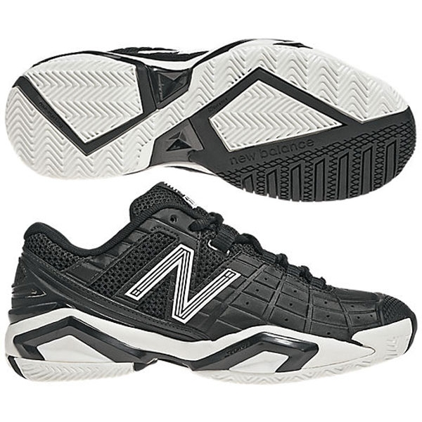 New Balance Women's WC1187BW (B) Tennis Shoes (Blk/ Wht)