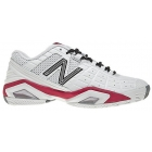 New Balance Women's WC1187WP (D) Shoes (Wht/ Pnk) - New Balance MC1187/WC1187 Tennis Shoes