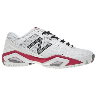 New Balance Women's WC1187WP (D) Tennis Shoes (Wht/ Pnk)