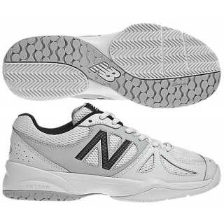 New Balance Womens WC696WS (D) Tennis Shoes (White/ Silver)