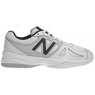New Balance Womens WC696WS (B) Tennis Shoes (White/ Silver)