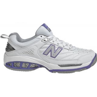 New Balance Women's WC806W (B) Tennis Shoes (Wht/ Pur)