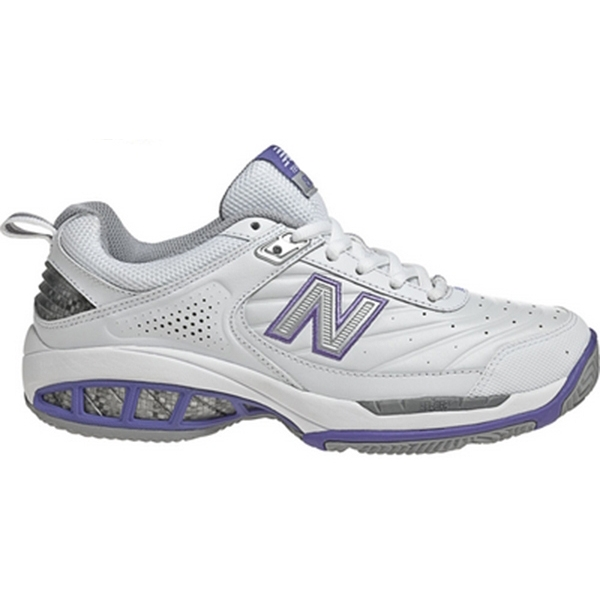 New Balance Women's WC806W (2E) Tennis Shoes (Wht/ Pur)