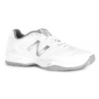 New Balance Women's WC896WB1 (D) Tennis Shoes (White/Silver) - New Balance Tennis Shoes