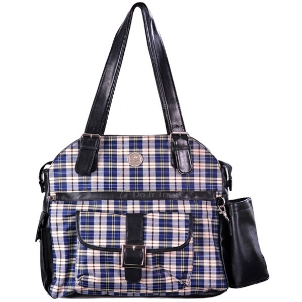 Whak Sak Blue Plaid Ultimate Tote Black