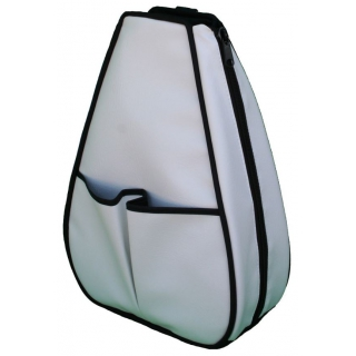 40 Love Courture White Faux Leather Sophi Backpack