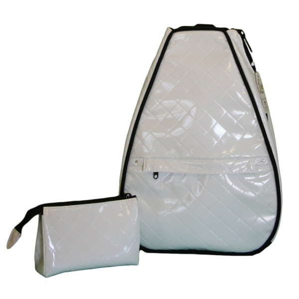 40 Love Courture White Quilt Elizabeth Tennis Backpack