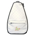 40 Love Courture White Quilt Betsy Tennis Backpack - 40 Love Courture Tennis Bags