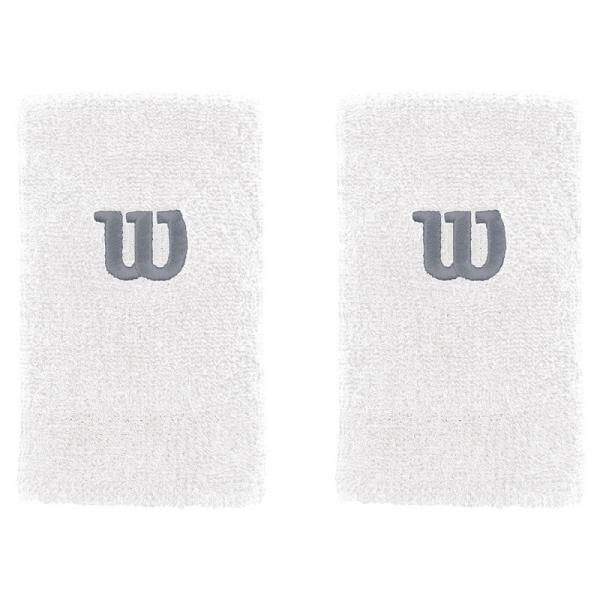 Wilson Extra Wide 'W' Tennis Wristband (White)