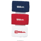 Wilson Logo Extra Long Wristbands - Wilson Headbands & Writsbands Tennis Apparel