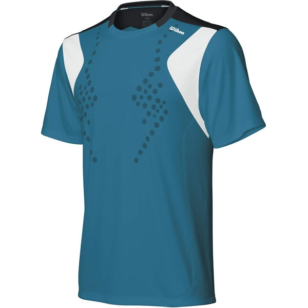 Wilson Men's Blow Away Crew (Teal/ Wht/ Blk)