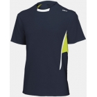 Wilson Men's Short Sleeve Crew (Nvy/ Lim/ Wht) - Wilson Men's Apparel Tennis Apparel