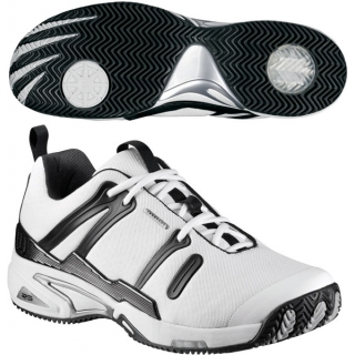 Wilson Men's Tour Spin II Tennis Shoe (White/Black/Silver)