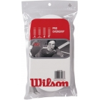 Wilson Pro Overgrip 30 Pack (White) - Absorbent Over Grips