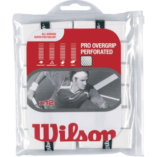 Wilson Pro Overgrip Perforated 12 pk (White)