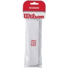 Wilson Single Headband (White) - Wilson Headbands & Writsbands Tennis Apparel
