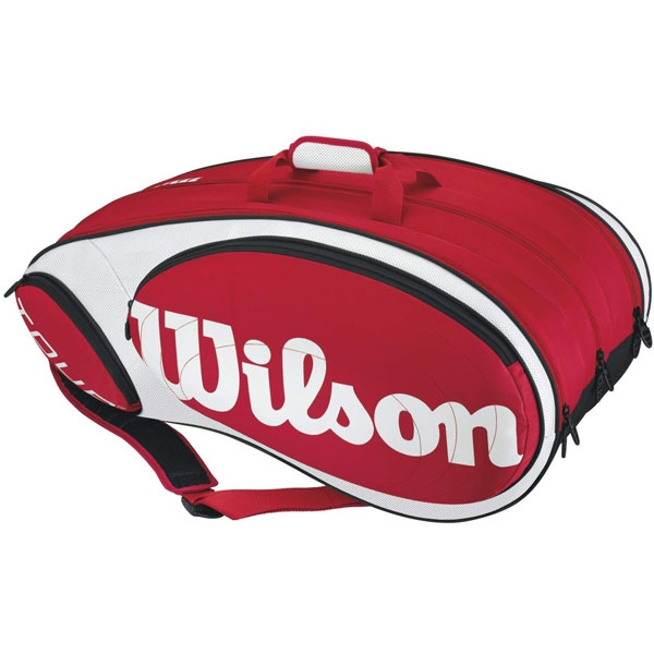 Wilson Tour 12 Pack Tennis Bag (Red/ Wht)