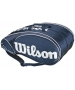 Wilson Tour 15 Pack  Bag (Blue/ Wht) - Wilson Tour Series Tennis Bags