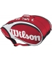 Wilson Tour 15 Pack  Bag (Red/ Wht) - Wilson Tour Series Tennis Bags