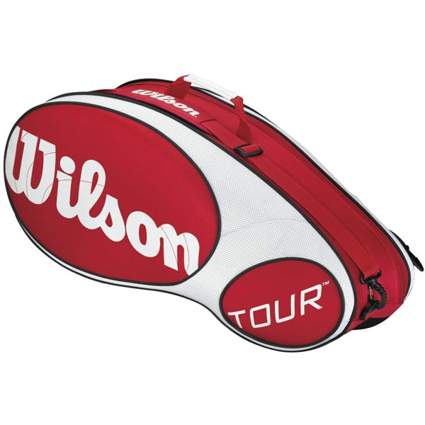 Wilson Tour 6 Pack Tennis Bag (Red/ Wht)