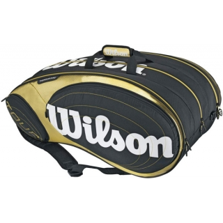 Wilson Tour 9 Pack Tennis Bag (Blk/ Gld/ Wht)