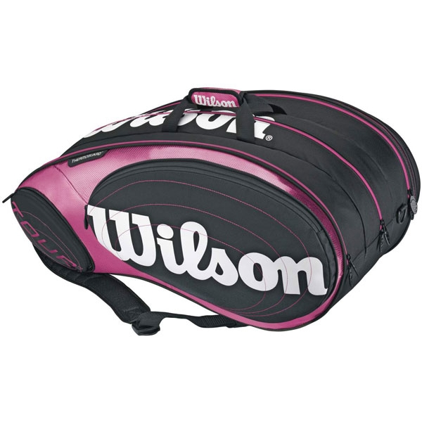 Wilson Tour 9 Pack Tennis Bag (Blk/ Pnk/ Wht)