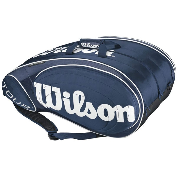 Wilson Tour 12 Pack Tennis Bag (Blu/ Wht)