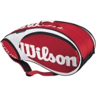 Wilson Tour 9 Pack  Bag (Red/ Wht) - Wilson Tour Series Tennis Bags